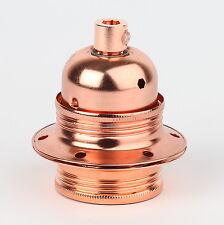 E27 Lampen-Fassung Metall kupfer mit Außengewinde 2 Schraubringe Zugentlaster