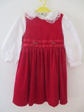PALOMINO ° elegantes rotes KLEID Gr. 110 mit weißer Bluse Mädchen Festtagskleid