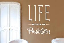 Life Is Full Of Possibilities Vinilo Pegatinas De Pared Adhesivo Decoración