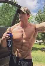 Shirtless Male Muscular Beefcake Super Ripped Muscle Jock Abs Dude PHOTO 4X6 D21
