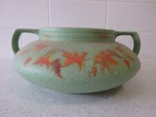 Vintage Art Deco Pottery Squat Vase Original c1930s Gc 27cm dia Rare