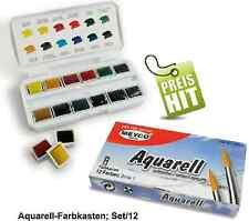Aquarellkasten Aquarellfarben Aquarellfarbkasten Set 12 Farben