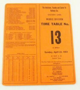 Atchison Topeka & Santa Fe Railway Railroad RR ETT Timetable 1983 Eastern TT