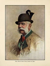 Kaiser Franz Joseph als Jäger Oskar Brüch K&K Trachtenjacke Gamsbart D 94 A3