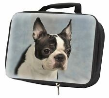 More details for boston terrier dog black insulated school lunch box bag, ad-bt8lbb