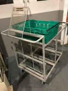 Warehouse Internet Order Stock Picking Trolley with Clipboard