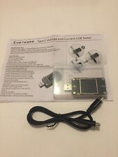 Eversame USB Tester Color Screen LCD Type C  Micro Standard USB Voltage Current