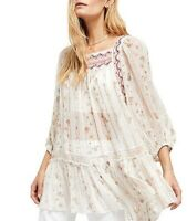 Free People Womens OB1017742 Top Relaxed Ivory Size S
