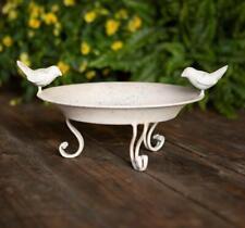 Vintage Metal Bird Bath Garden Accessory