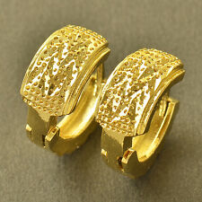Womens Hoop earing Free Shipping Apollonian 14K Yellow Gold Filled Embossed