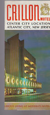 Crillon Motel Atlantic City New Jersey Brochure 1960s Center City Location