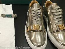 BUSCEMI SNEAKERS 50mm GOLD PLATINUM BRAND NEW SIZE 46 EURO 12 - 13 US LEATHER