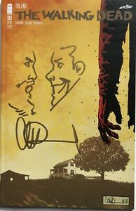 WALKING DEAD #193 w/RICK & NEGAN REMARQUE & SIGNED BY CHARLIE ADLARD 2ND PRINT