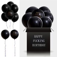 10pcs Happy Fucking Birthday Adult Balloon Black Funny Party Night Party Decor