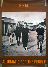 R.E.M. AUTOMATIC FOR THE PEOPLE 1992 VINTAGE MUSIC RECORD STORE PROMO POSTER
