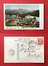 AK ST. MORITZ DORF Schweiz 1904 Ortsansicht mit Kirche  ( 41463