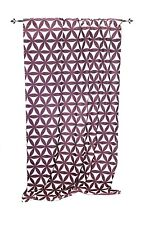 Rideau Bexhill 140x240cm 100% polyester Flower-Power style rétro aubergine /