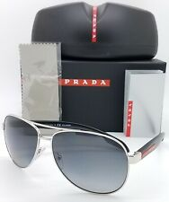 New Prada sunglasses PS53PS 1BC5W1 62mm Polarized Grey Gradient Linea AUTHENTIC