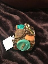 LENORA DAME Artist Handmade ANTIQUE Beauty Statement CUFF Bracelet HTF