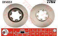 TRW Juego de 2 discos freno 300mm ventilado NISSAN PATHFINDER NAVARA PICK DF4553