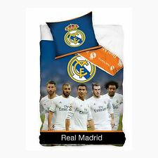 REAL MADRID CF STARS SINGLE COTTON DUVET COVER SET OFFICIAL BEDDING FREE P+P NEW