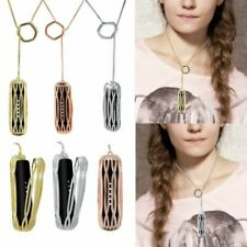 Elegant Metal Steel Necklace Pendant Strap Holder For Fitbit Flex 2 Bracelet