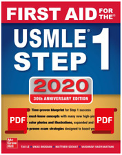 First Aid for the USMLE Step 1 2020, 30th Anniversary Edition { E-Copy }