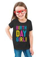 Birthday Girl Party Cute Girly Toddler/Kids Girls' Fitted T-Shirt Gift