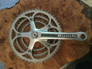 Vintage Ofmega Vantage Bicycle Crankset Triple 170 mm 52/42/32T Made in Italy