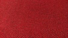 "Vintage Classic Red Canvas Tweed Fabric 52"" Wide Seat Upholstry Church Pew Auto"
