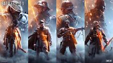 Game battlefield 1 soldiers Silk Poster Wallpaper 24 X 13 inch