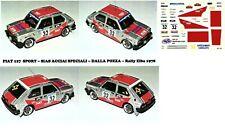 Decal - Fiat  127 SPORT - SIAS  - Rally ELBA1978
