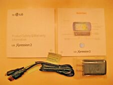 Lg At&T Xpression 2 Cell Phone Quick Start Guide Safety Information Accessories