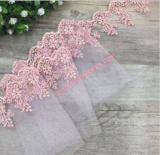HB07E 11.5cm,1 Yard Dress Skirt Handicrafts DIY Embroidered Net Lace Trim Ribbon