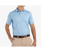 Johnnie-O Birdie Prep-Formance Jersey Golf Polo Gulf Blue Small S Jmpo1710 S339