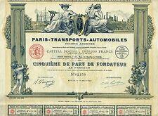 FRANCE PARIS AUTOMOBILE TRANSPORT COMPANY stock certificate 1927