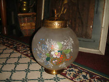 Vintage Venetian Handpainted Glass Round Lampshade-Hanging Lampshade-Superb