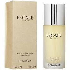 Escape By Calvin Klein 3.3 / 3.4 oz EDT Spray New In Box Sealed Cologne For Men