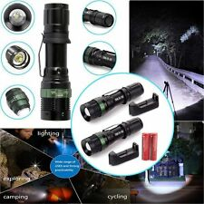2pc UltraFire 3000LM Tactical Zoom Focus LED T6  Flashlight &18650+Smart Charger