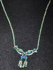 Signed Sherman Blue and Green Necklace