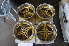 "JDM Riverge Style 15"" MX5 Miata E30 pcd100x4 Staggered wheels roadster ssr equip"