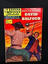 Classics Illustrated #94 David Balfour by Stevenson (Hrn 94) 1st 1952 Fine-