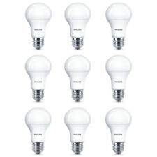 9x Philips LED Frosted E27 75w Warm White Edison Screw Light Bulbs Lamp 1055Lm