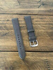 Brown watch strap, pig skin, 18mm