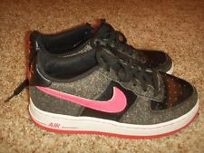 Nike Air Force 1 314218-016 Black Pink Girls Size 5.5 Youth