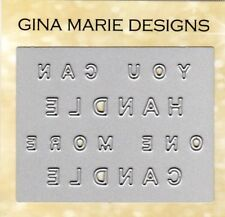 Gina Marie designs metal cutting dies You can handle one more candle word plate