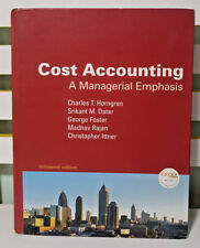 COST ACCOUNTING - A MANAGERIAL EMPHASIS! HARDCOVER BOOK BY CHARLES T. HORNGREN!
