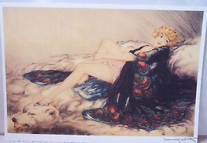 "Louis Icart Silk Robe (14"" x 20"")"