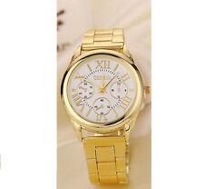 Markenlose polierte Armbanduhren mit Edelstahl-Armband für Damen
