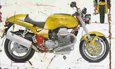 MotoGuzzi V11Sport 1999 Aged Vintage SIGN A4 Retro
